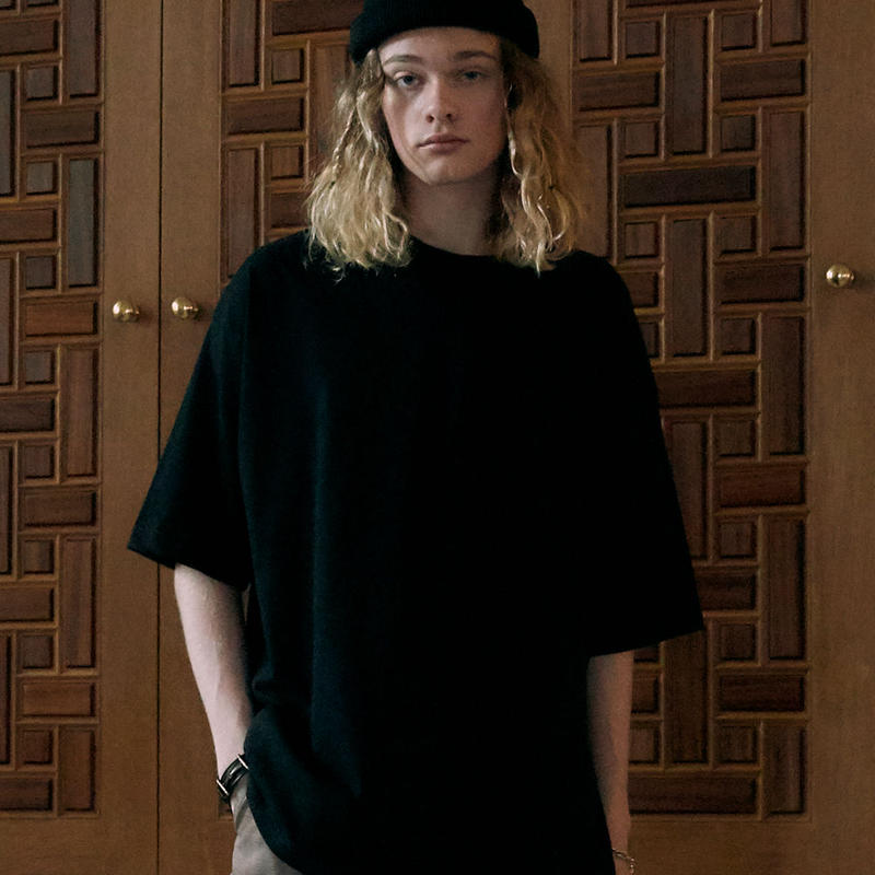 OVER SIZED T-SHIRT【BLACK】 L220