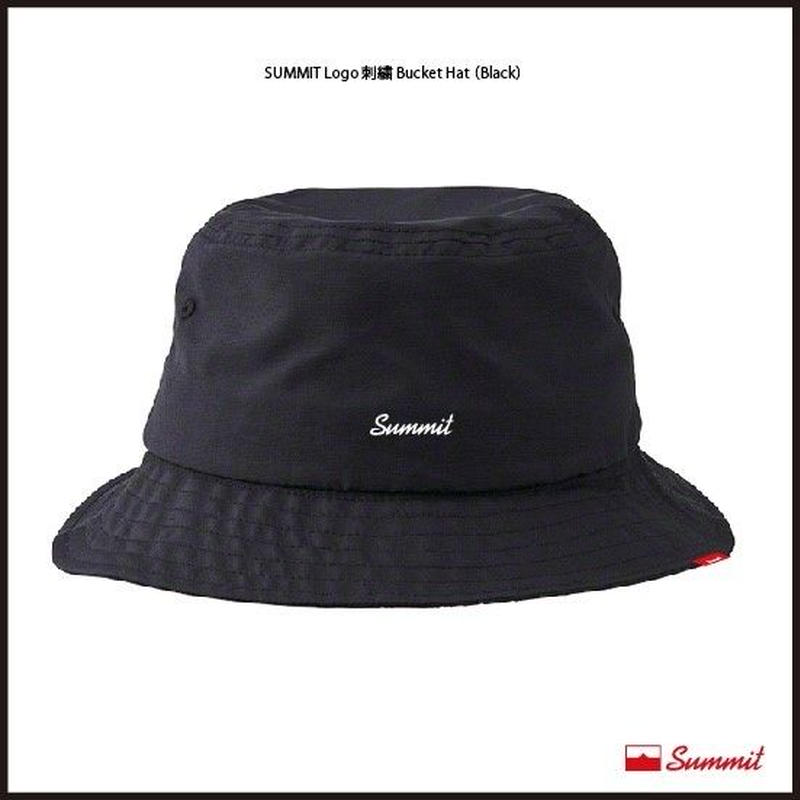 SUMMIT LOGO刺繍 Bucket Hat(BLACK)