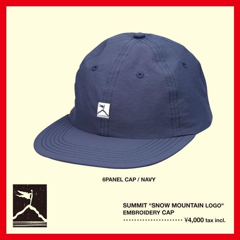 "SUMMIT ""雪山ロゴ""刺繍 6パネル CAP(NAVY)"