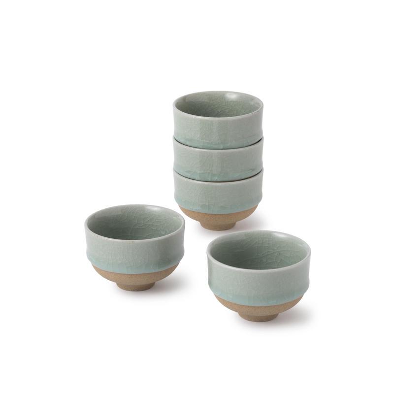 鍋島青瓷 煎茶碗(五個)