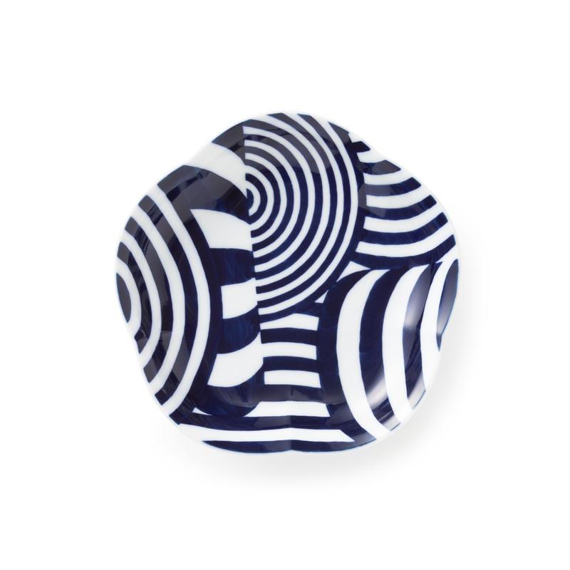藍鍋島 高台皿