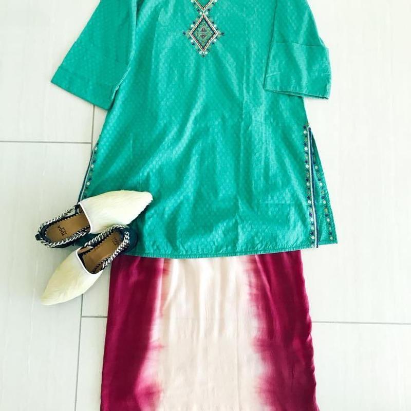 Indian fabric Tunic [GREEN] INDIA