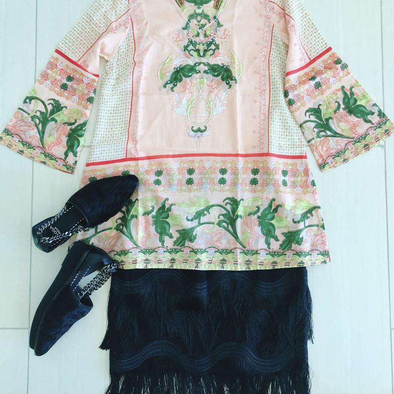 Fringe Skirt [BLACK] England
