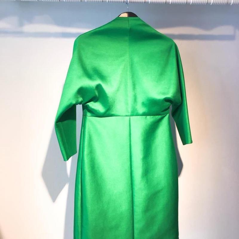 No reason, No collar Coat [GREEN]
