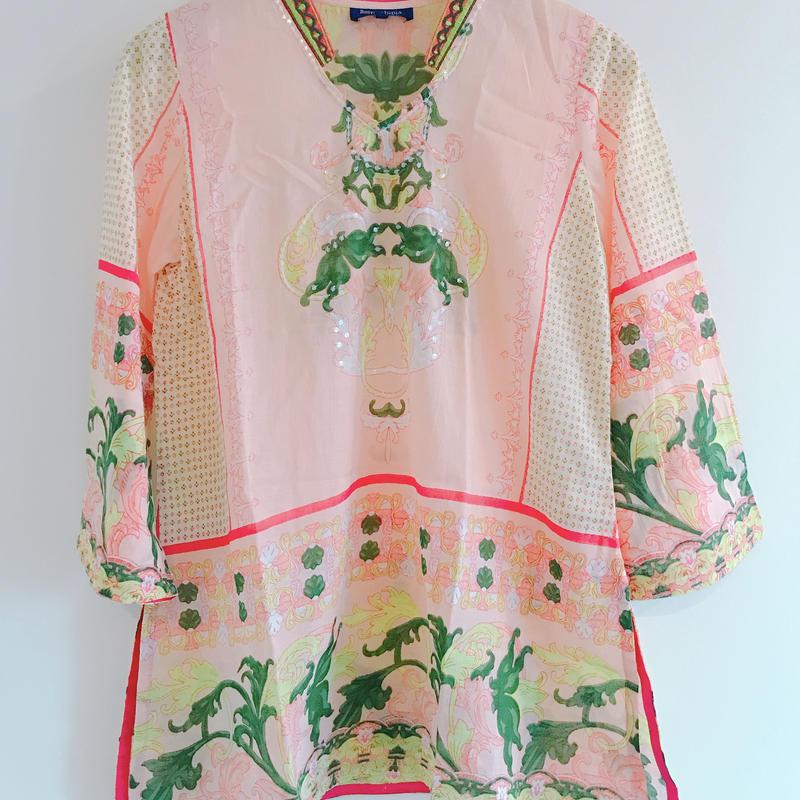 Flower Tunic blouse[Pale PINK] Restock!!