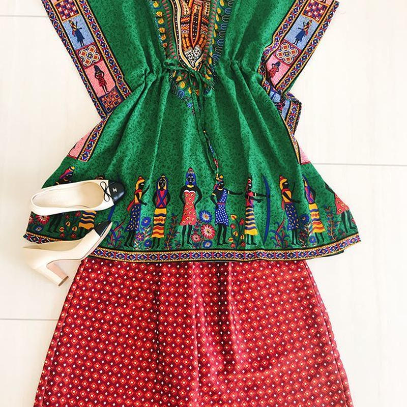 African textile tunic [GREEN]