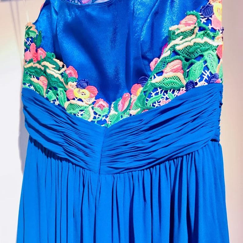 PERFECT DRESS with  SKY BLUE  holder neck lace