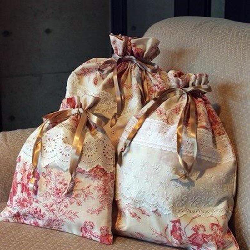 旅行用巾着袋3点セット トワルドジュイ