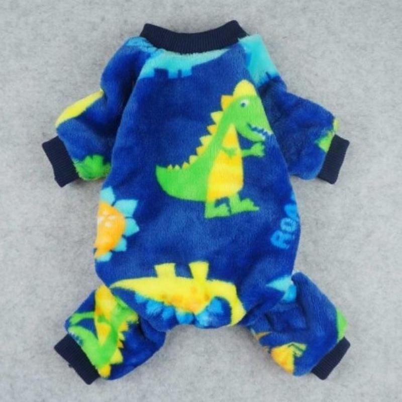 ロンパースパジャマ 恐竜 ブルー