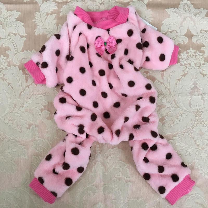 ロンパースパジャマ ドット ピンク