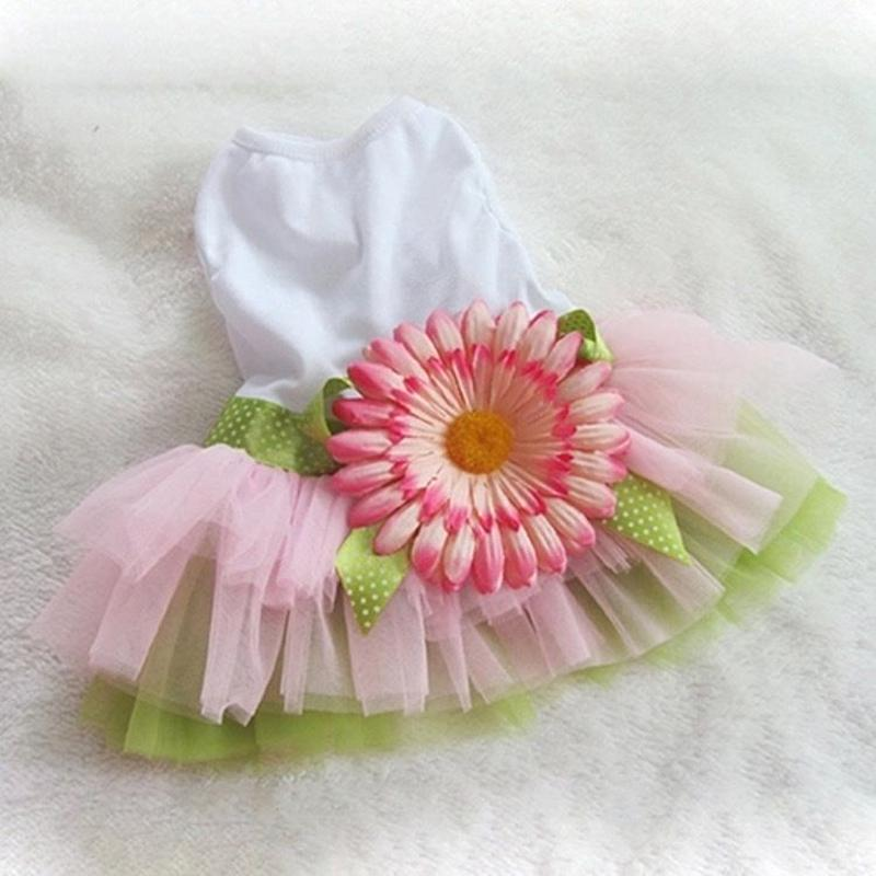 デイジー ドレス ピンクグリーン