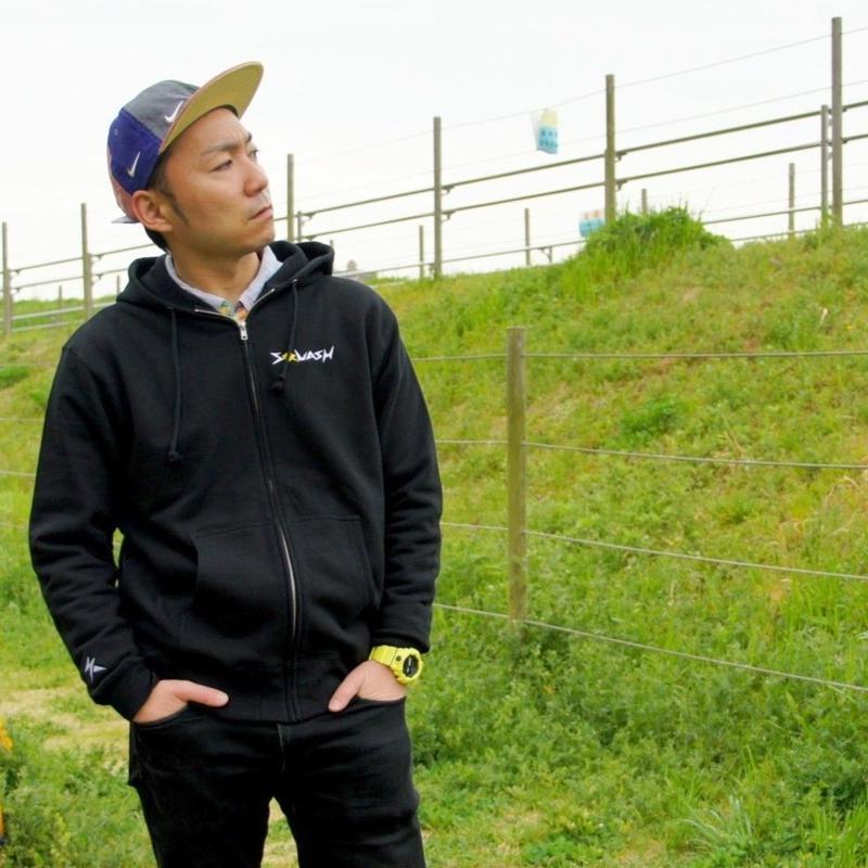 【受注生産】ジップアップパーカー(ブラック)