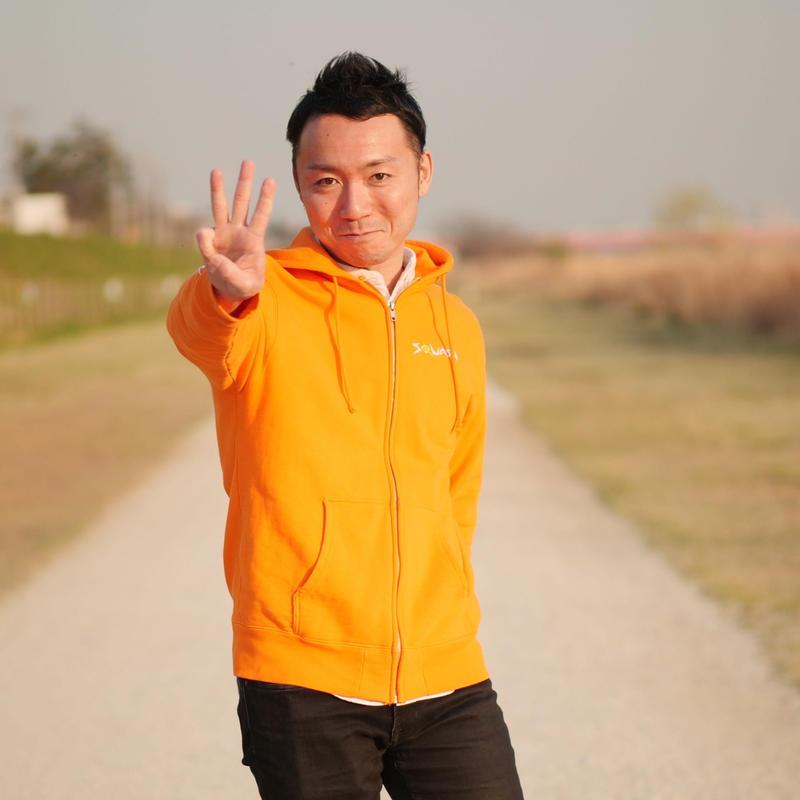 【受注生産】ジップアップパーカー(オレンジ)