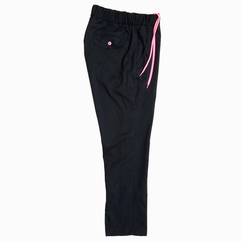 FRENCH TWILL  EASY PANTS / BLACK