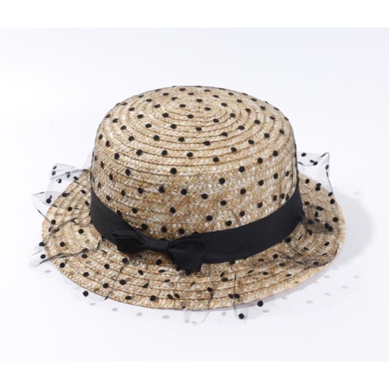 ドットチュールカンカン帽