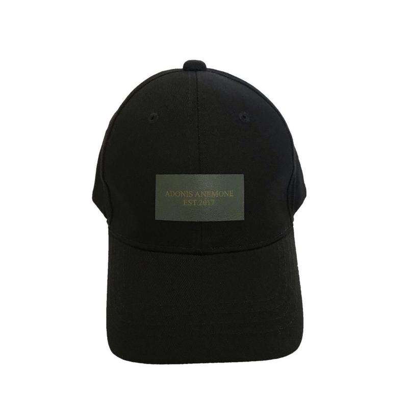 LEATHER LOGO COTTON  CAP