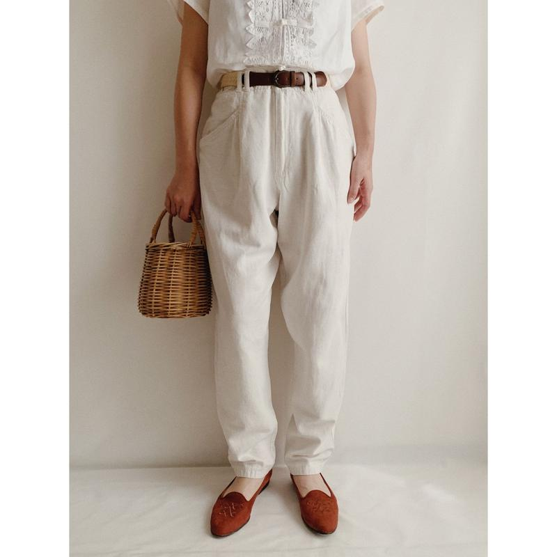 Euro Vintage Cotton Linen Pants