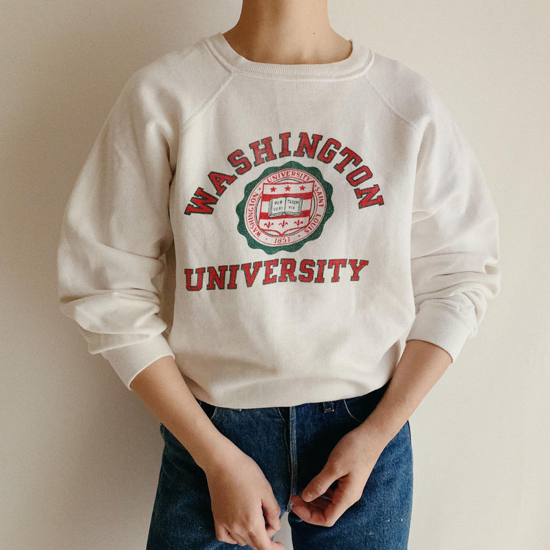 "USA 80's "" Champion "" College Logo Print Sweat Shirt"