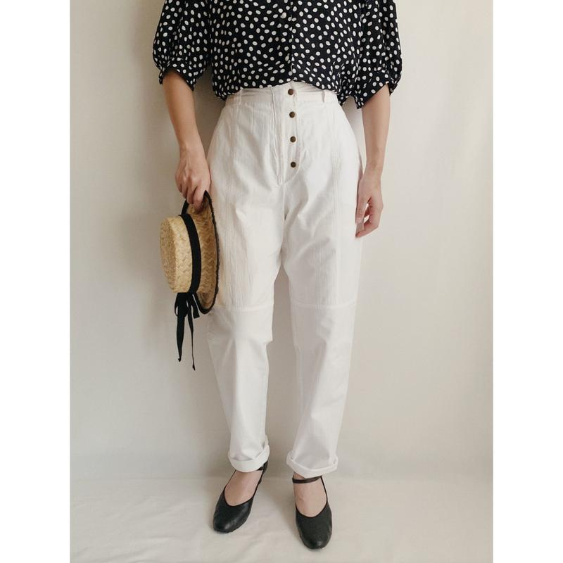 Euro Vintage Cotton Tapered Pants