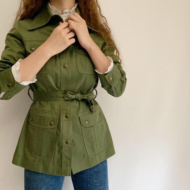 70's Cotton Twill Field Jacket