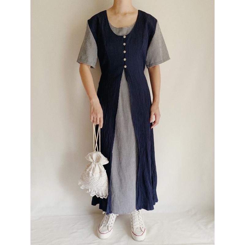 Euro Vintage Layered  Summer Long Dress