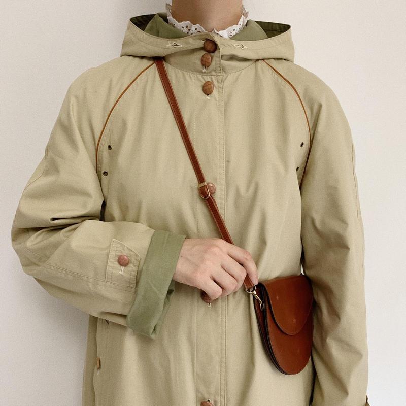 70's Euro Vintage Aline Hooded Coat
