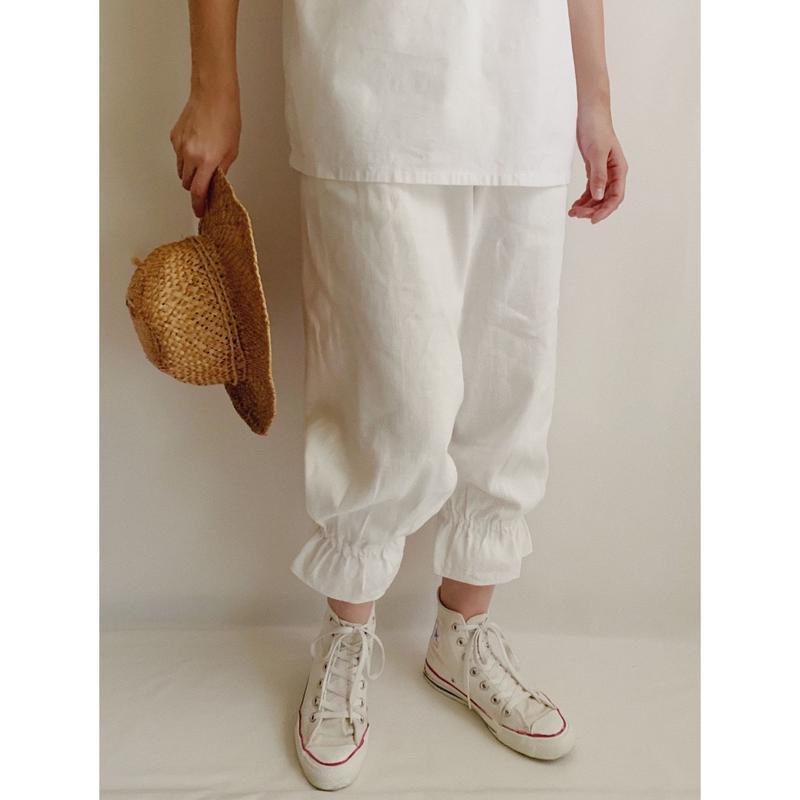 Euro Vintage Cotton Linen Drowers Pants