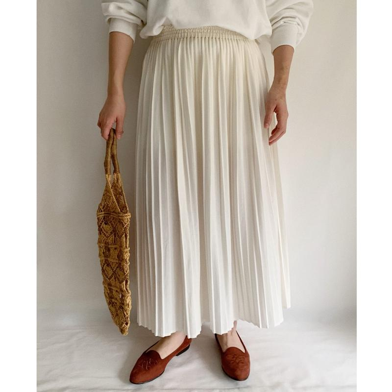 Euro Vintage Accordion Pleats Long Skirt