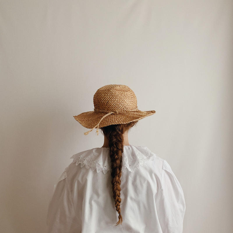 Euro Vintage Pierrot Collar Cotton Blouse