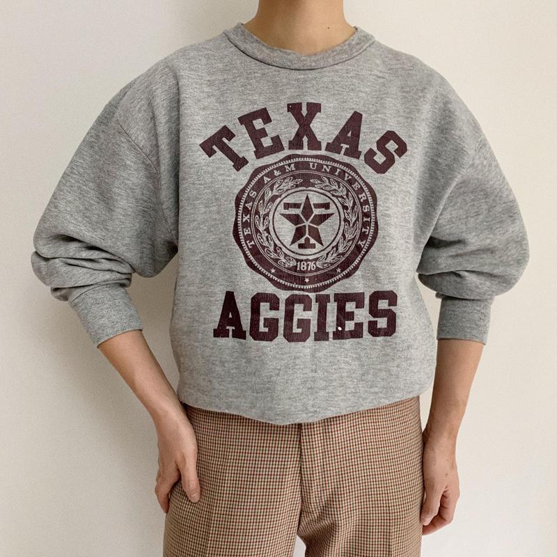 80's USA  College Print  Sweat Shirt