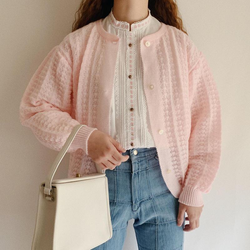 Euro Vintage Spring Knit Cardigan