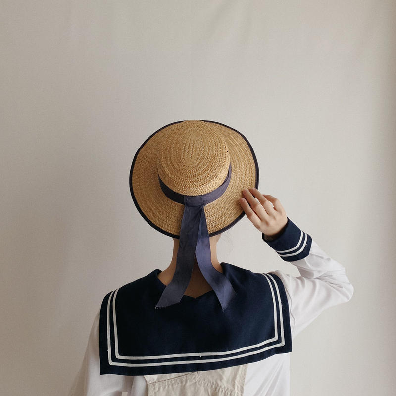 Euro Vintage Sailor Collar Pullover Shirt