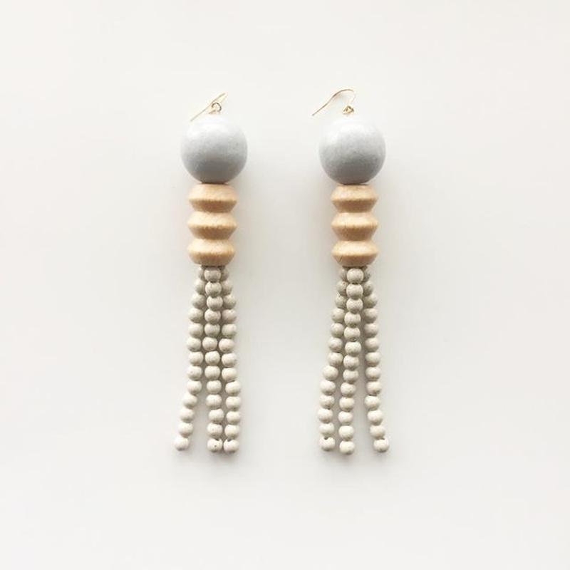 Earrings 04 グレー