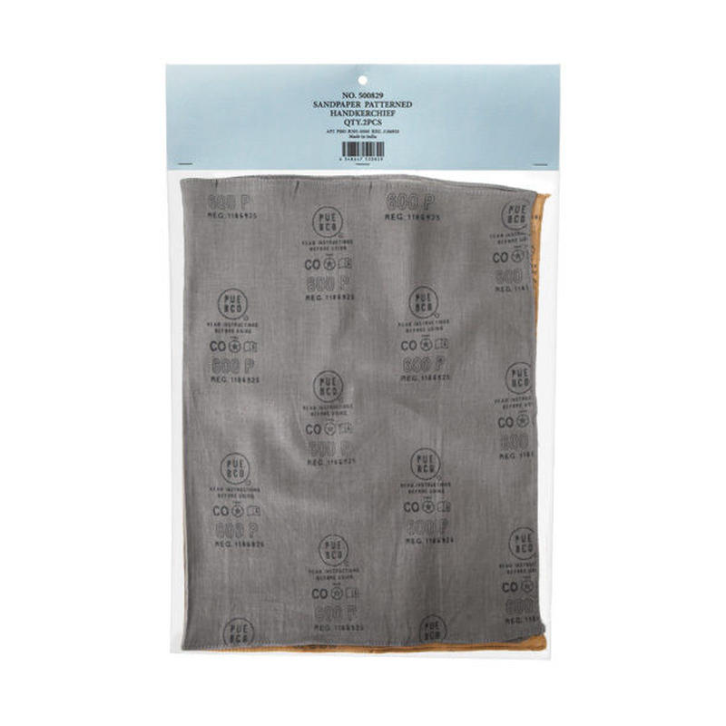 SANDPAPER PATTERNED HANDKERCHIEF
