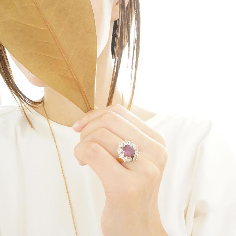 vintage   purple pink ring