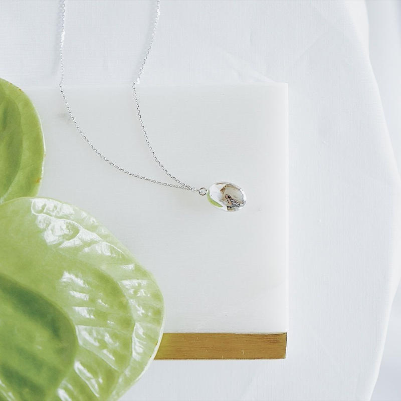 silver925 oval necklace