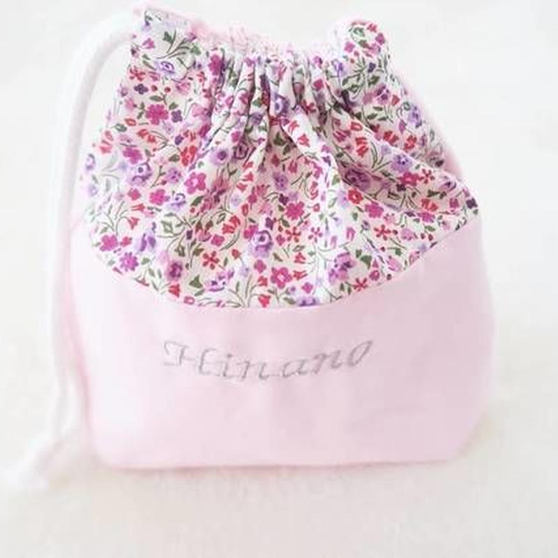 ミニ巾着袋(コップ袋)(ピンク)