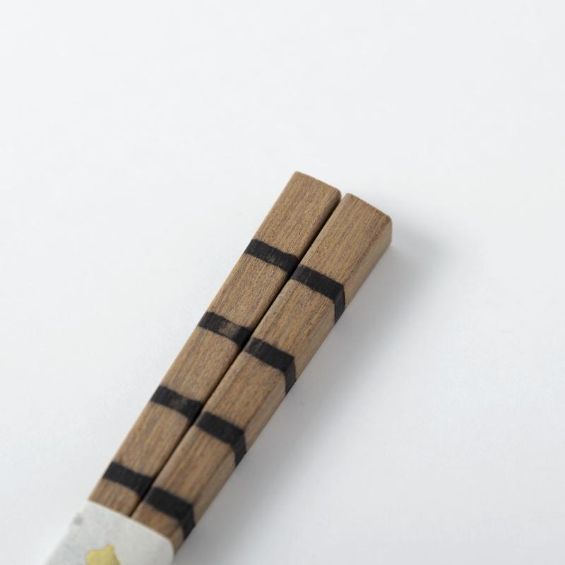 箸 ストライプ(鉄木)