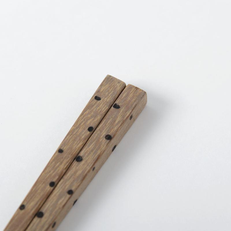箸 水玉(鉄木)