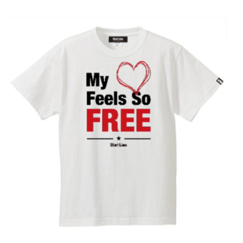 【L残り3点】FREE Active T-shirt/フリーアクティブTシャツ(White/ホワイト)