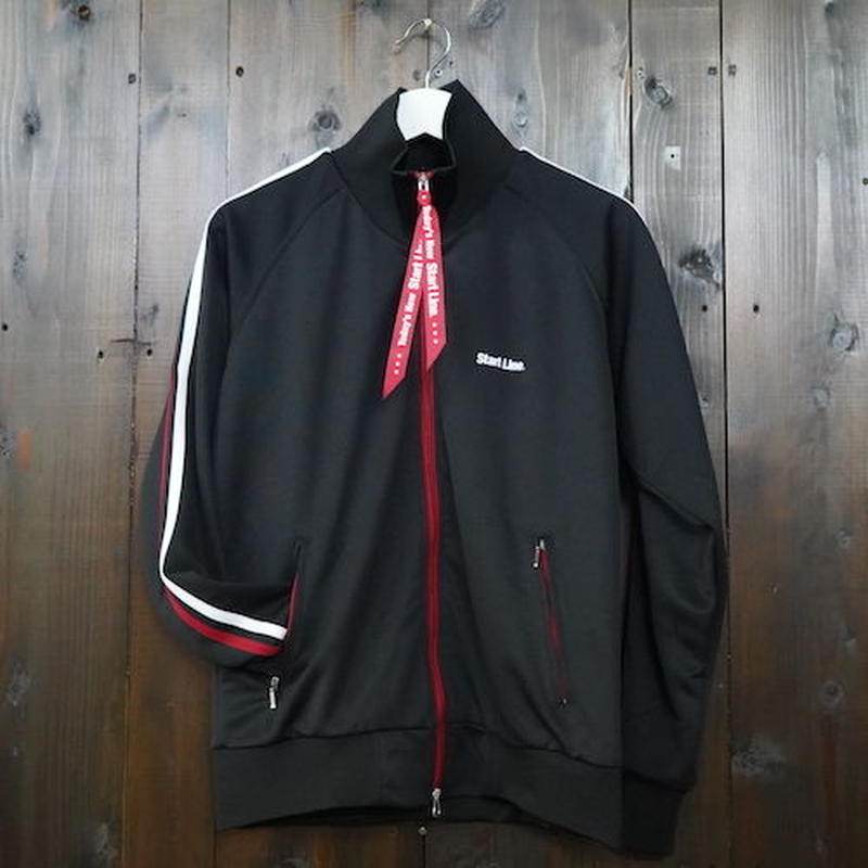 【M残り2点】W-Zip Lines Jersey /ダブルジップラインジャージ(Black × Red/ブラック × レッド)