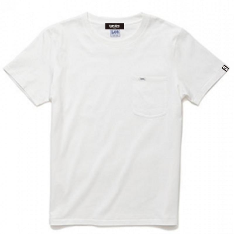 【M残り3点】Lee with SL Pocket T-shirt/リーウィズポケットTシャツ(White/ホワイト)
