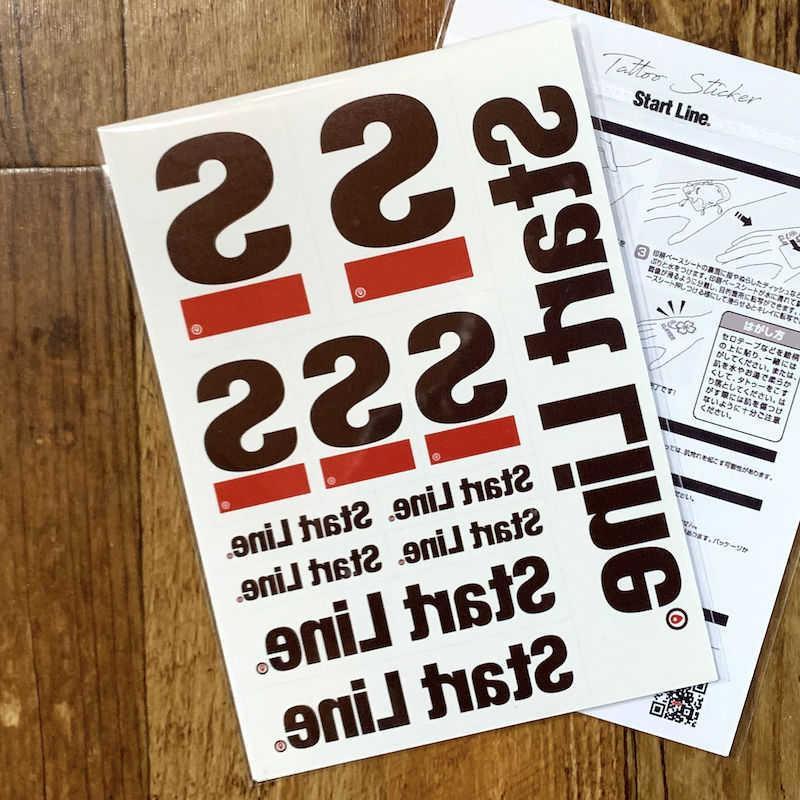 StartLine  Pack Tattoo Sticker/スタートラインパックタトゥーステッカー(12枚セット)