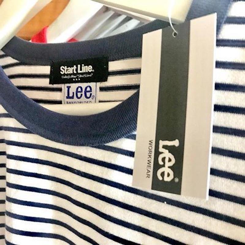 【L残り1点】Lee with SL Pocket Border T-shirt/リーウィズポケットボーダーTシャツ(Navy/ネイビー)