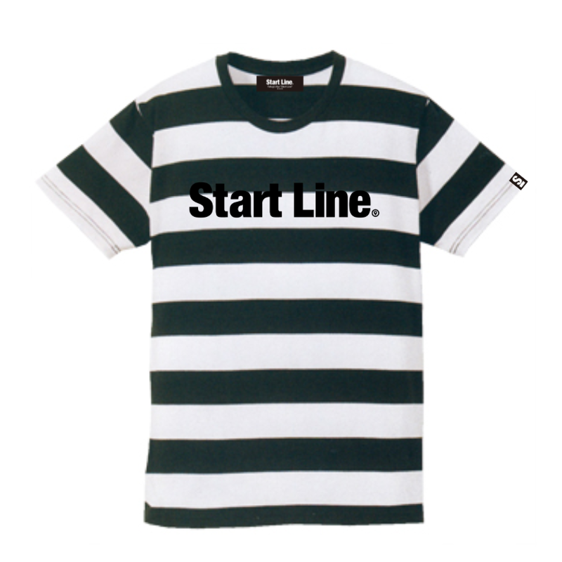 【S残り1点】StartLine Standard Border T-shirt/スタンダードボーダーTシャツ(Black/ブラック)