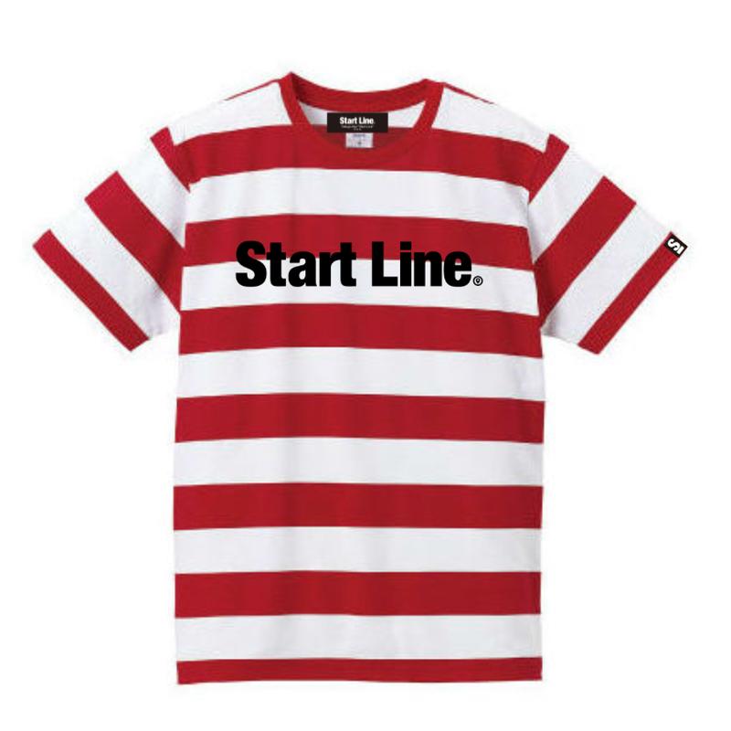 【残り3点】Start Line Standard Border T-shirt/スタンダードボーダーTシャツ(Red/レッド)