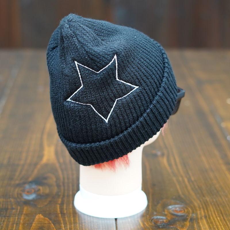 【残り3点】Big Star Knit Cap/ビッグスターニットキャップ(Black/ブラック)