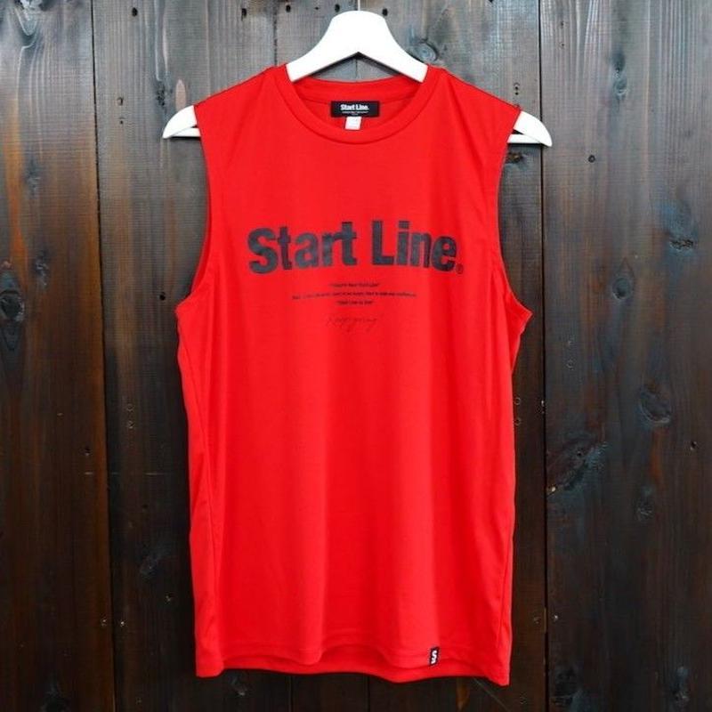 【L残り1点】World Marathon City No-sleeve/ワールドマラソンシティーノースリ(Red/レッド)