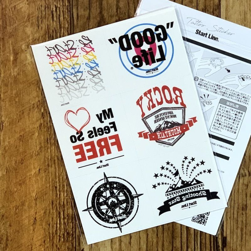 Graphic Tattoo Sticker/グラフィックタトゥーステッカー(6枚セット)