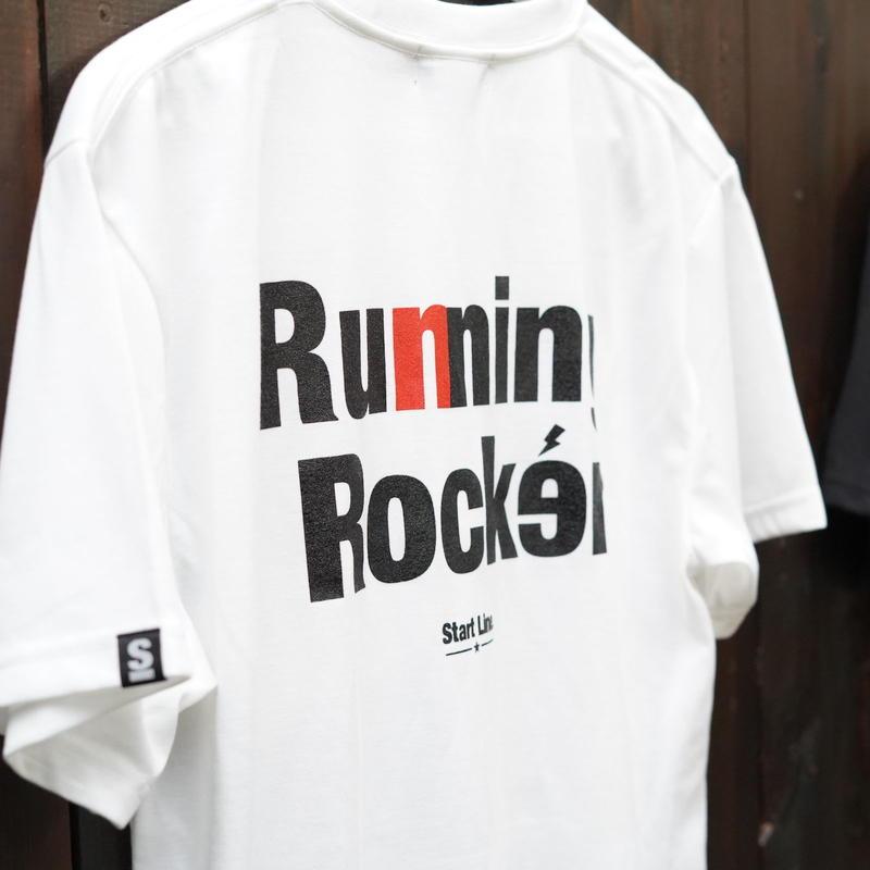 Running Rocker Pocket T-shirt/ランニングロッカーポケットTシャツ (White/ホワイト)